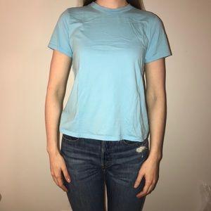 Aritzia Tops - 🌸2/$30🌸 TNA Blue Crewneck Cotton T-shirt